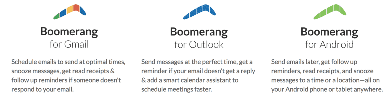 Boomerang - Productivity application for email