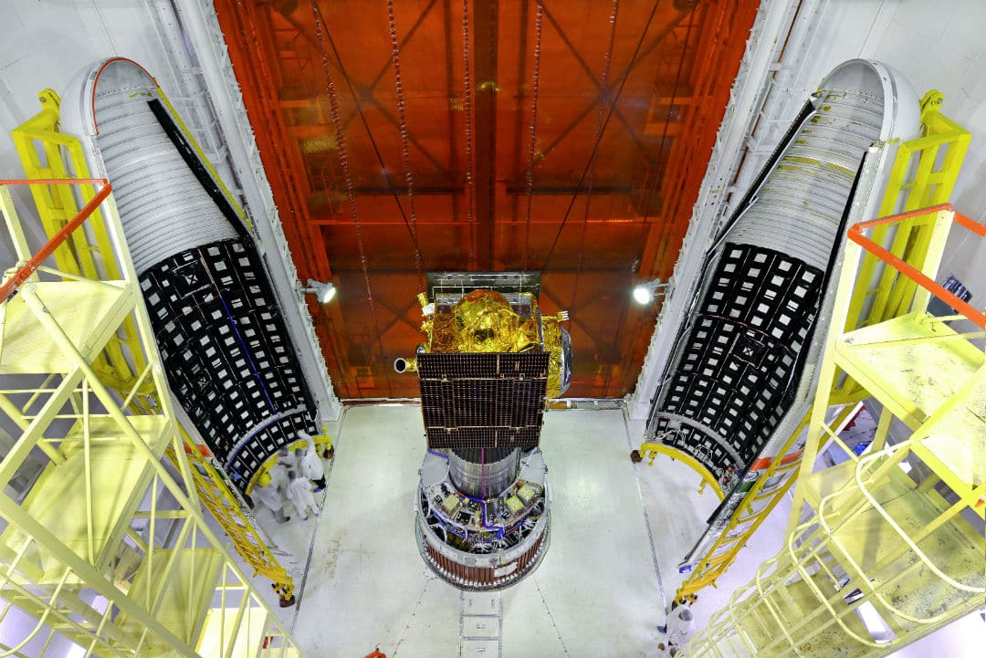 irnss g navic space craft integrated with pslv
