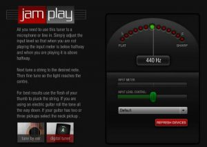 Jamplay online Guitar Tuner and Guitar tuner Web App