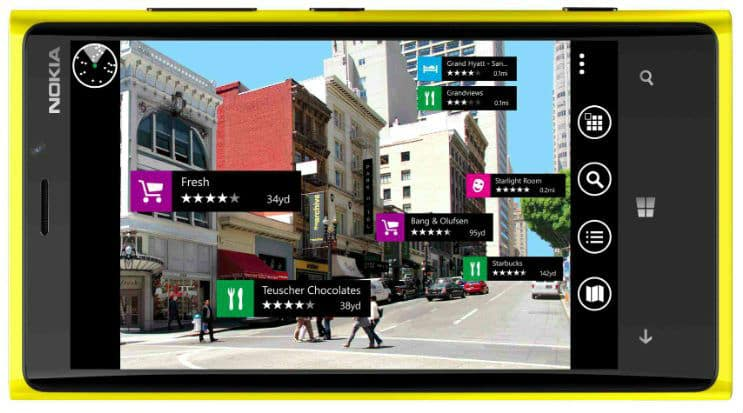 NokiaCitylenses - Position or location based Augmented Reality