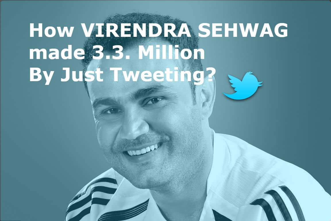 Virender Sehwag Twitter Income is making rounds in the media. He recently revealed 30 Lakhs income by Tweeting in just 3 months. Let's know How