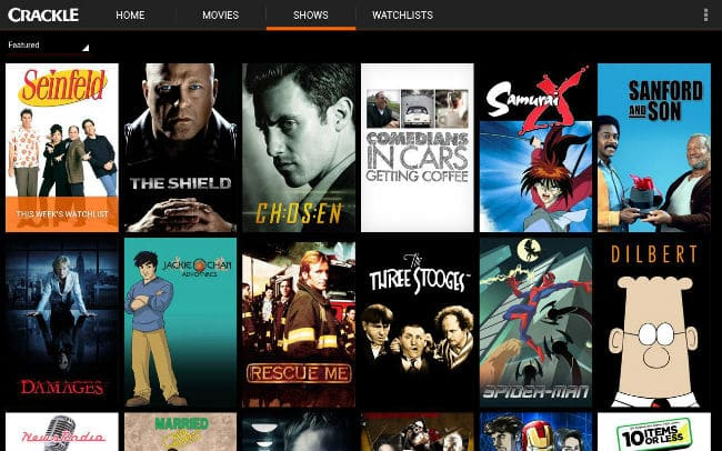 Crackle – Online distributor of Free Online movies and TV shows