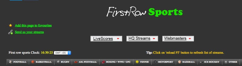 Firstrow - Free Sports Streaming Website