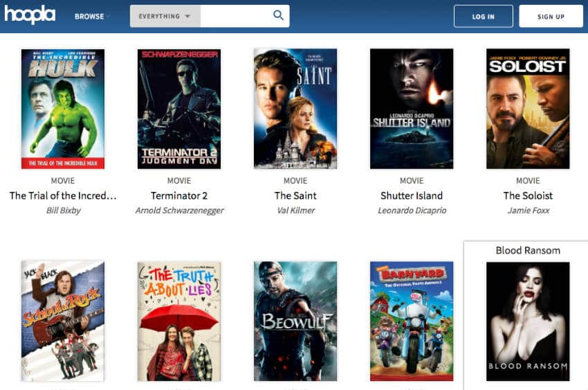 Hoopla enables you to watch free movies online