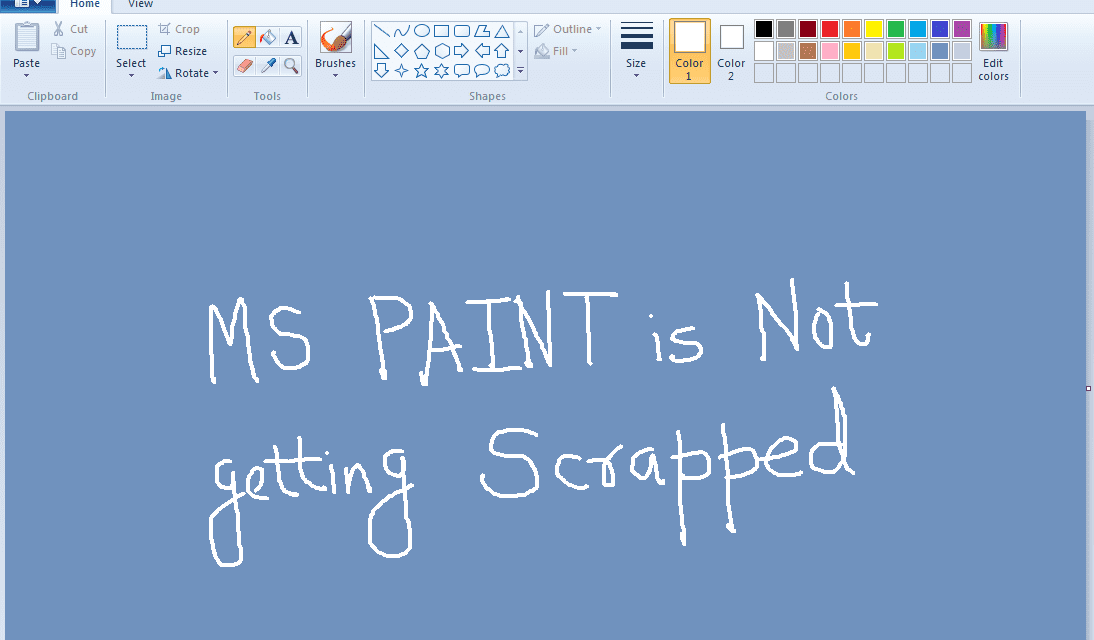 Why Microsoft is Not Going to Discontinue MS Paint