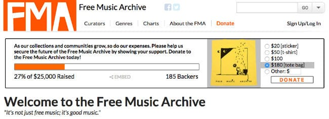 Free Music Archive Review - Site Experience, MP3 Downloads Quality, etc