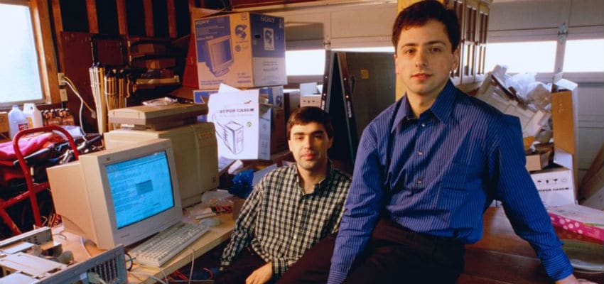 Larry Page and Sergey Brin at their dormatory