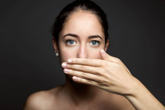 bad breath or halitosis may cause embarrassment