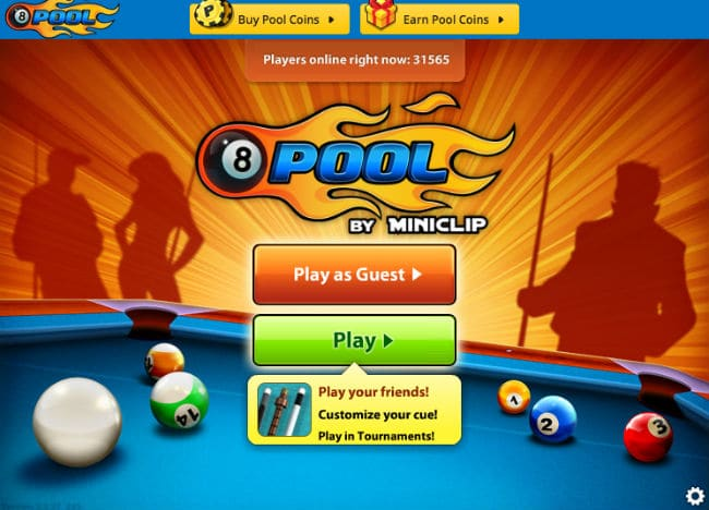 8 ball pool free online games on miniclip