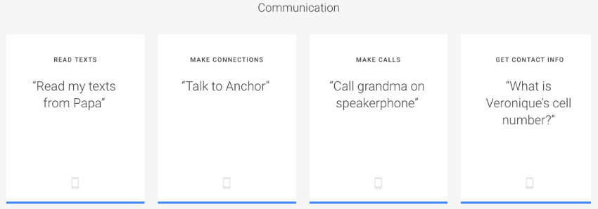 Communication with Google Asistant by saying OK Google