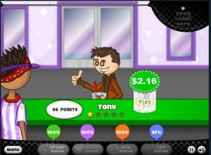 Cool Math Games Papa's Freezeria Customer Tip and Rating