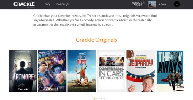 Crackle Movies to watch free movies originals
