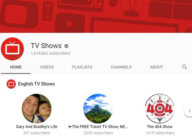 Official YouTube TV Shows Channel