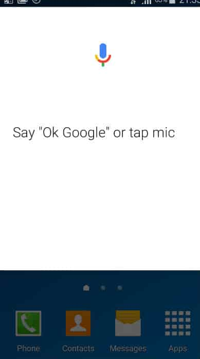 Say OK Google or Tap Mic