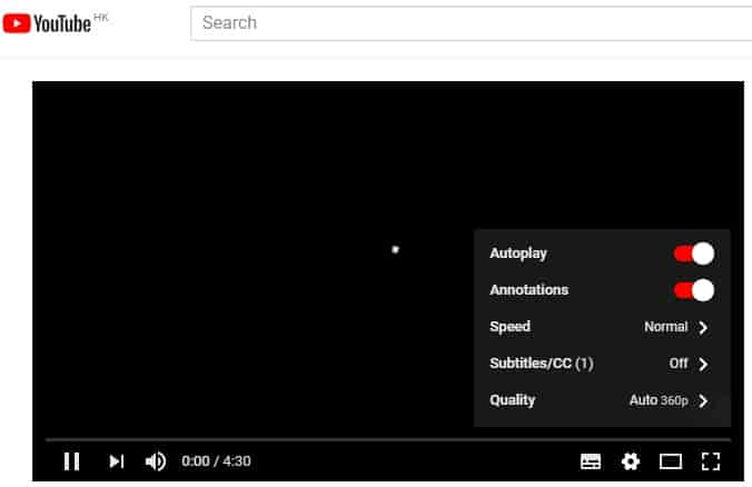 YouTube Video Player Options