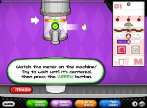 cool Math Games Papa's Freezeria Mixing Blending