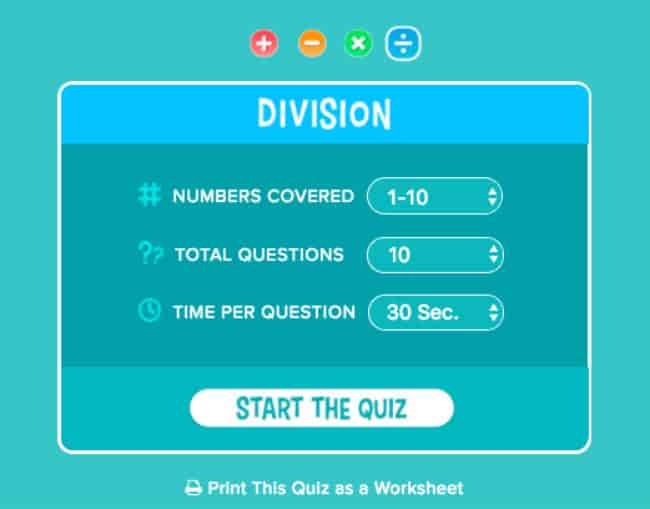 Choose level of difficulty on quizzes