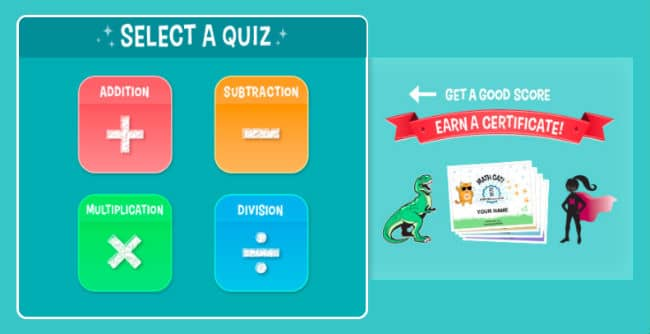 Choose the topic of quiz on coolmath4kids