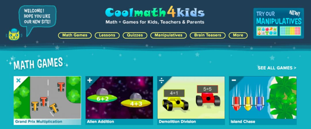 Review of CoolMath4Kids - A games & learning portal for kids below 12