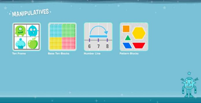 Manipulatives and Brain Teasers on coolmath4kids website