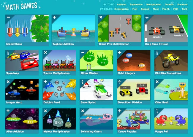 Math Games at CoolMath4Kids Portal