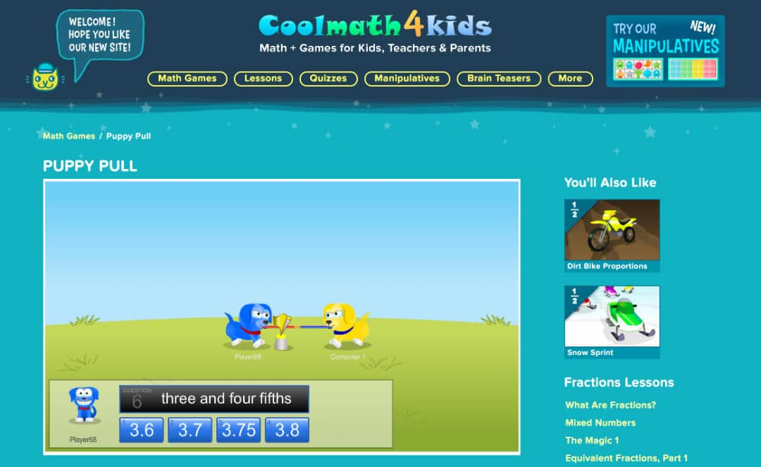 Play Addition, Subtraction, Multiplication, Division & Integers Games at Cool Math 4 Kids Platform. For Kids below 12 years of age