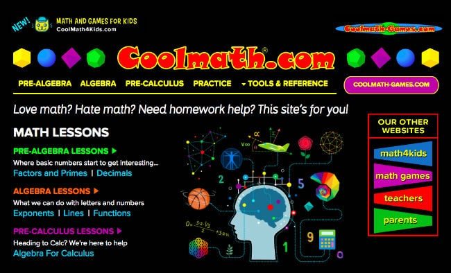 Cool Math Homepage