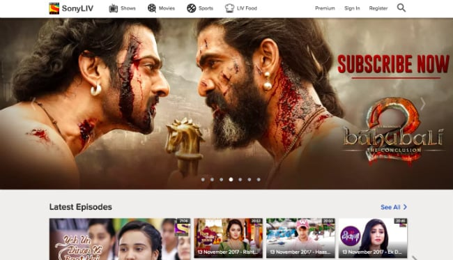 SonyLIV Movie Collection