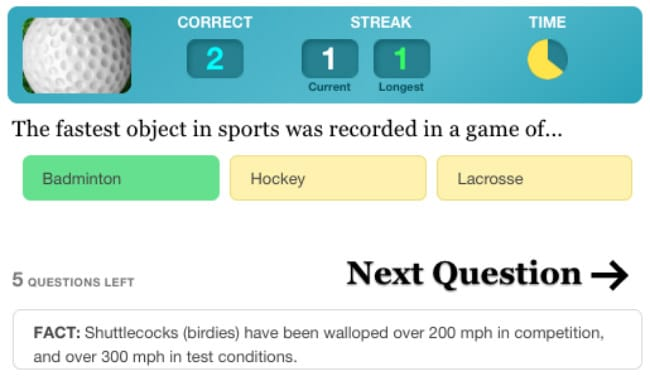 Sports Quiz on www.quizlife.com