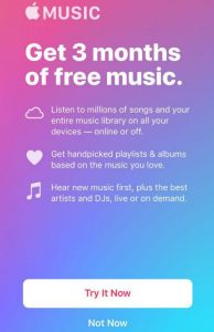 Apple Music 3 months free trial features