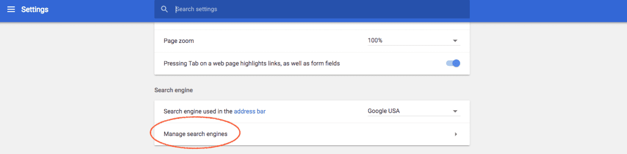 Go to Chrome settings and click manage search engines
