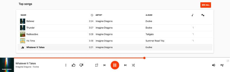 Google Play Music Library Player