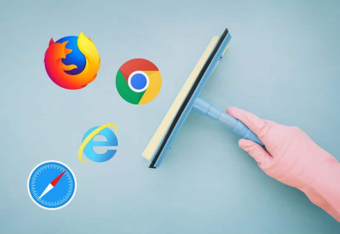 clear browser history of chrome firefox safari internet explorer
