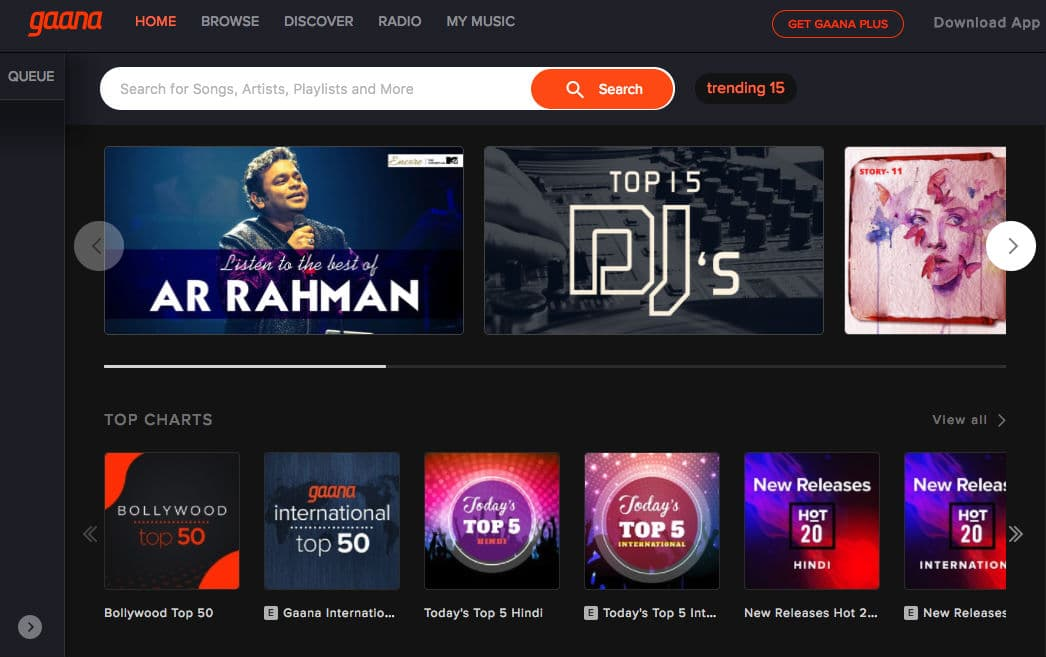 In this Gaana Review, we discuss the website and application user-interface and rate on Music Library, Quality of Songs, Player Options, etc.