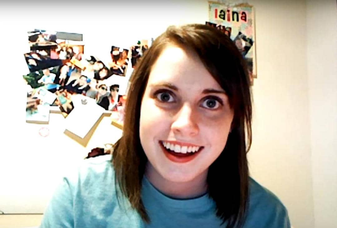 Overly attached girlfriend is the meme which gained its popularity around the year 2012 along with a lot of other memes like the doge meme to name one. But the most striking thing about this meme is the expression of the girl. The girl in the meme is a YouTube user named Laina Walker.