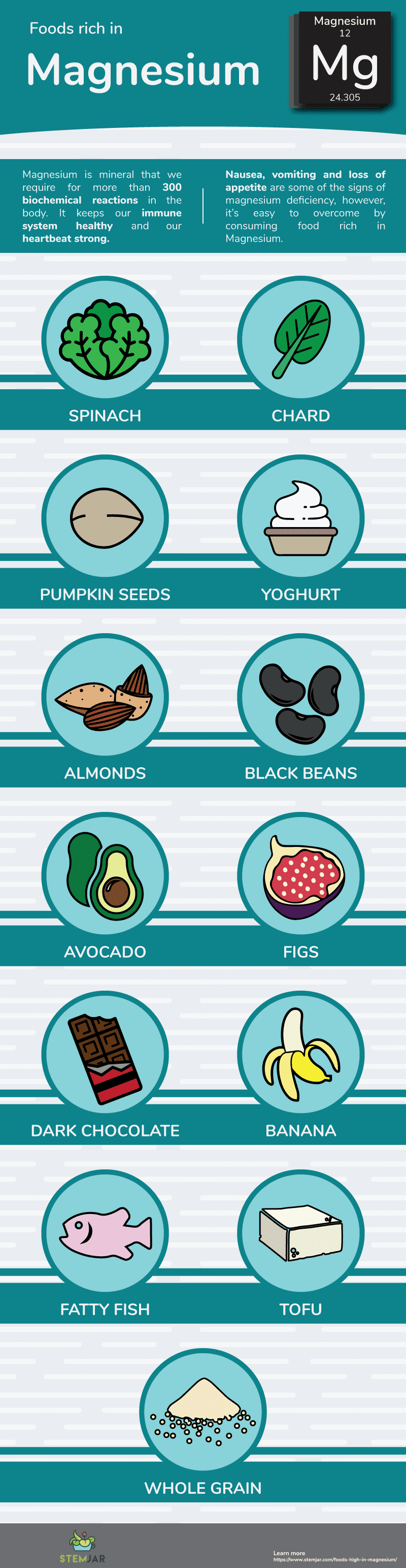 foods high in magnesium info graphic