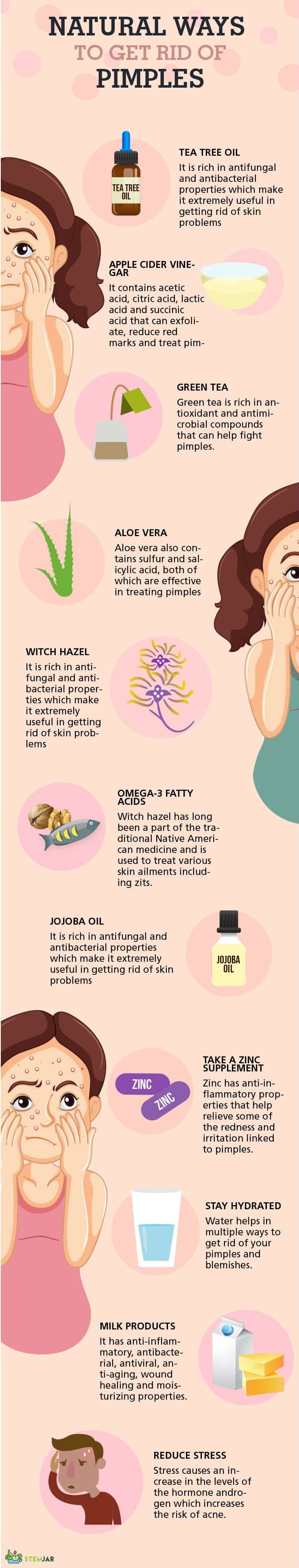 How to Get Rid of Pimples infographic