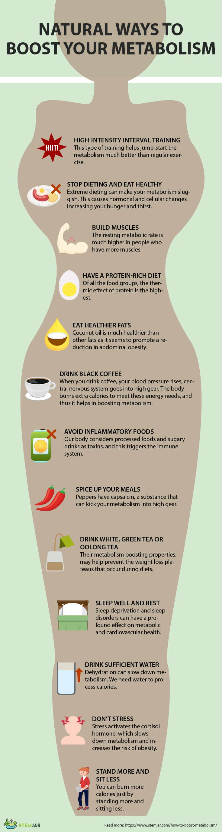 How to boost your metabolism infographic