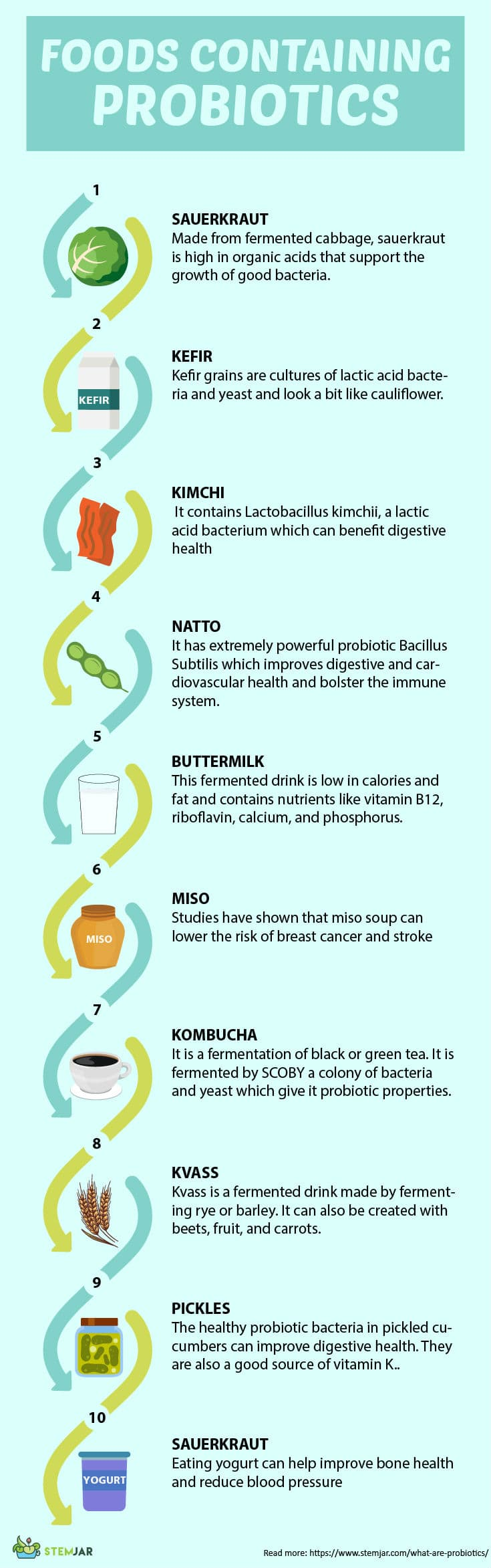 What is probiotics and popular sources infographic