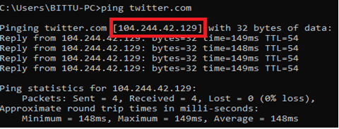 twitter IP address