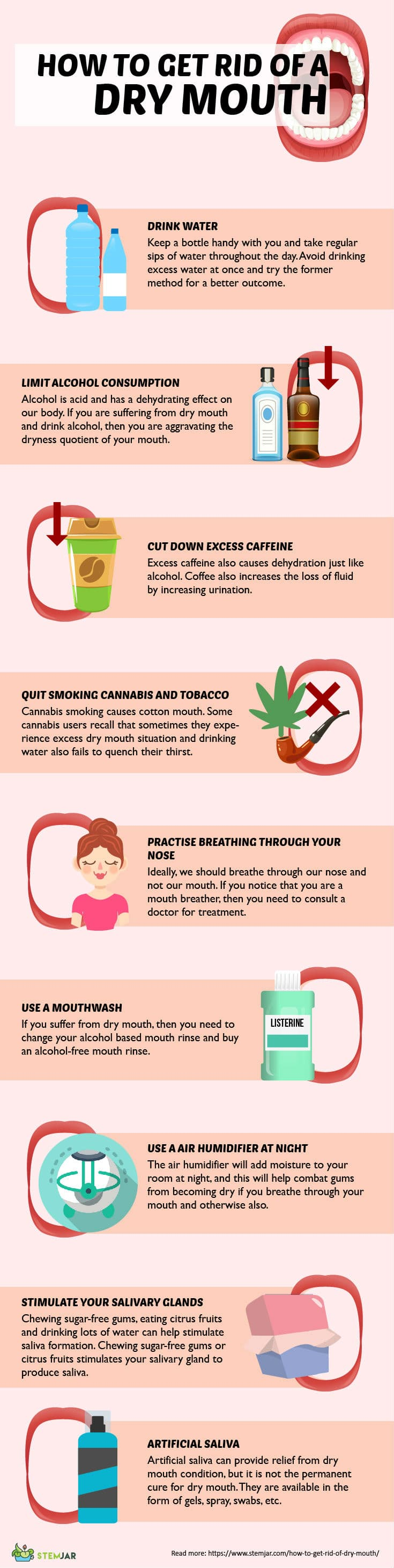 how to get rid of dry mouth infographic
