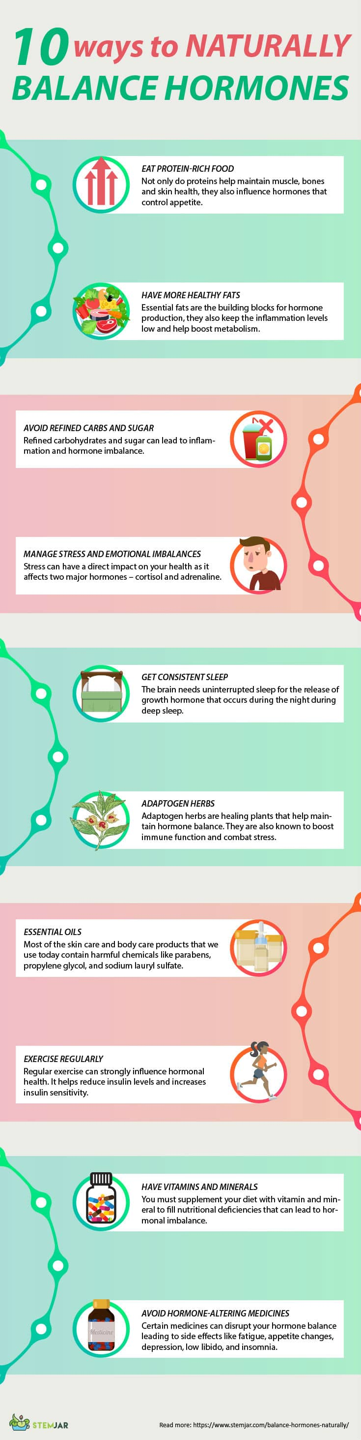 balance hormones naturally infographic