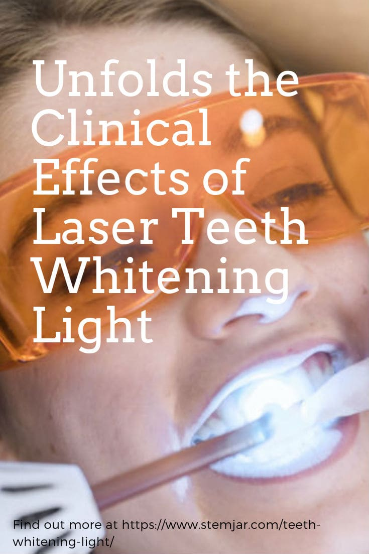 Teeth whitening light comes in the form of a blue LED or laser which emits ultraviolet rays. It is used in conjunction with the whitening gel.