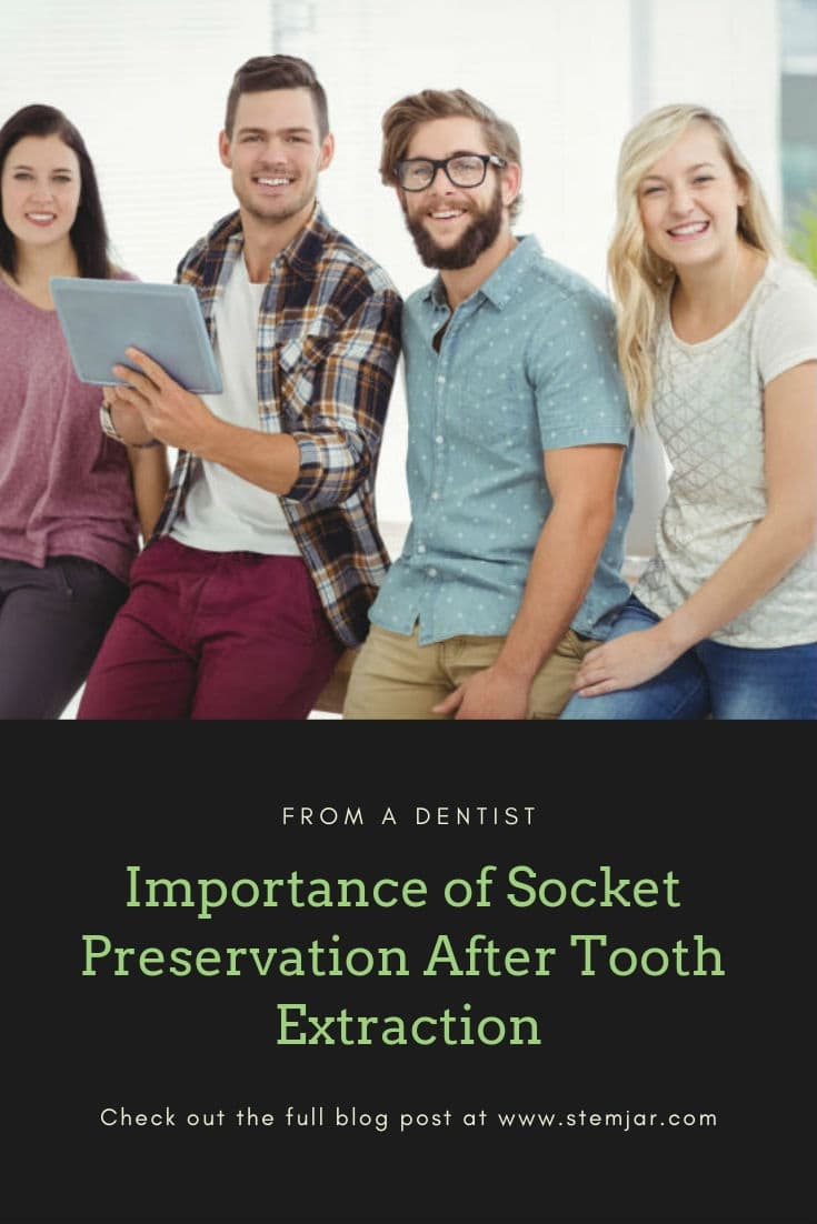 Socket preservation helps to maintain the height & density of the underlying bone and support for future tooth replacement procedures.