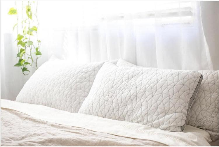 Coop Home Goods Foam pillow is adjustable for any type of sleeper. It is soft but supportive. It is machine washable & prevents allergens.