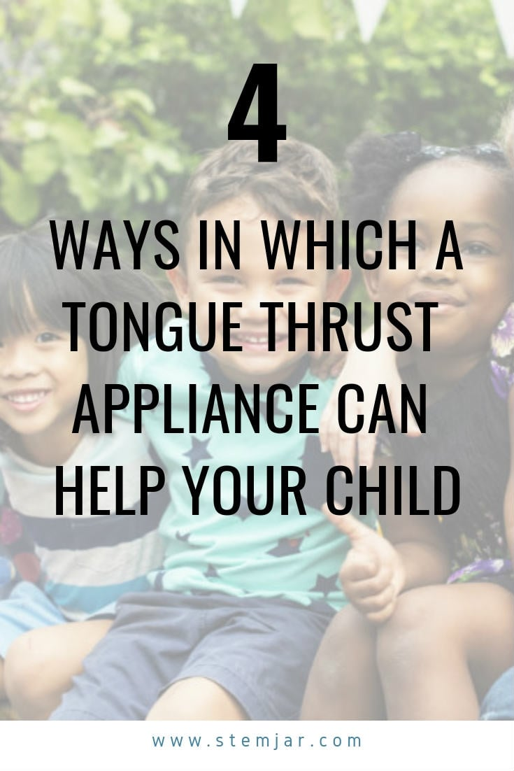 A tongue thrust appliance is an orthodontic appliance which is placed inside the mouth to control the movements of the tongue.