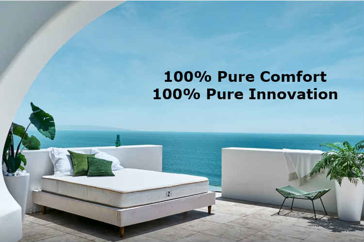 If you want the natural feel of natural latex and do not prefer the spring or foam mattresses, then Zenhaven is just right for you. Zenhaven mattresses are made of Talalay latex, which is more resilient and has a supple and buoyant feel about it. It has two sides – firm and soft plush, any of which can be chosen by just flipping the mattress.